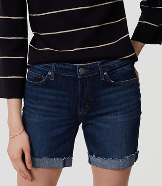 Curvy Denim Bermuda Shorts in Rich Dark Indigo Wash $54.50 thestylecure.com