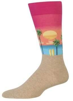 Hot Sox Beach Scenic Crew Socks