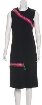 Christopher Kane Sleeveless Midi Dress w/ Tags Black Sleeveless Midi Dress w/ Tags