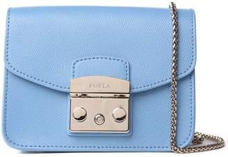 Furla Mini Metropolis Pebbled-leather Cross-body Bag