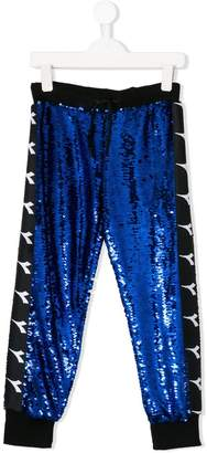 Diadora Junior sequinned logo track pants