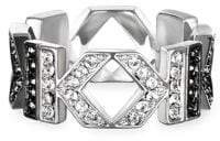 Karl Lagerfeld Double K Swarovski Crystal Ring