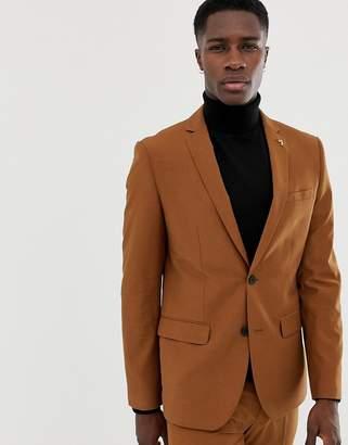 927b42e029e Farah Smart Henderson skinny suit jacket in tan