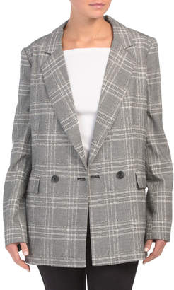 Modern Femme Oversized Plaid Blazer