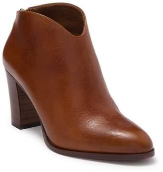 Frye June Leather Block Heel Bootie