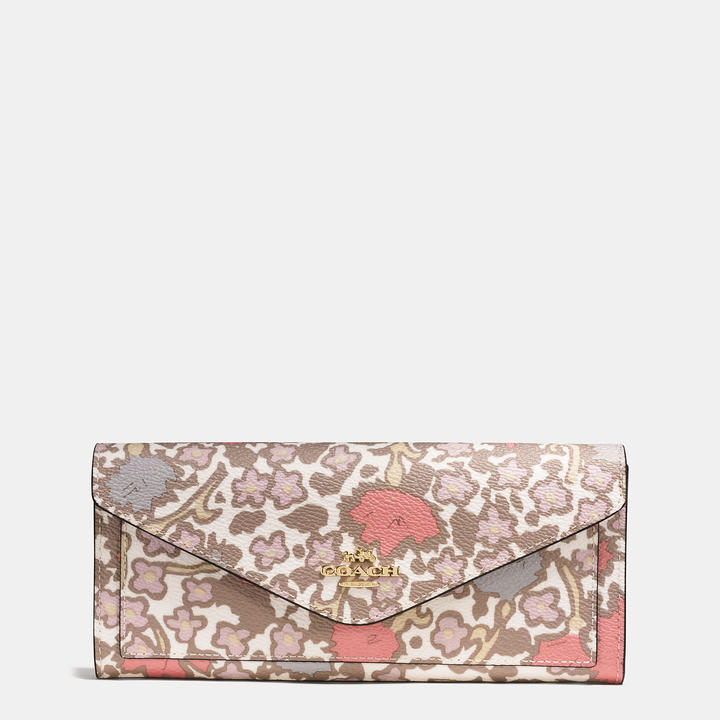 Coach   COACH Coach Soft Wallet In Yankee Floral Print Coated Canvas