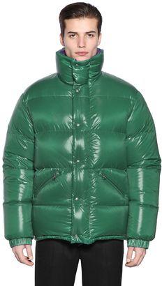 Moncler Dejan Shiny Nylon Down Jacket