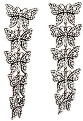 Gucci Crystal Butterfly Clip-On Earrings silver Crystal Butterfly Clip-On Earrings