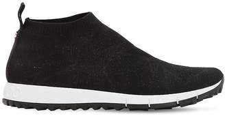 Jimmy Choo 30mm Norway Glittered Knit Sock Sneakers