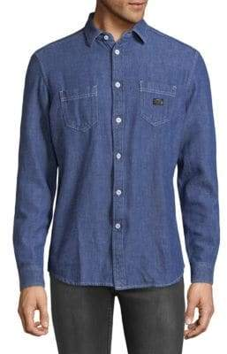 Diesel Long Sleeve Denim Button-Down Shirt
