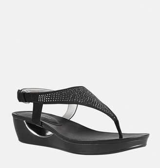 Avenue Carey Embellished Thong Wedge Sandal