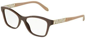 Tiffany & Co. Optical 0TF2130 Full Rim Square Woman Sunglasses - Size (Pearl Brown / Clear Lens)