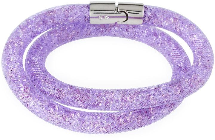 Swarovski Stardust Convertible Crystal Mesh Bracelet/Choker, Light Purple, Small