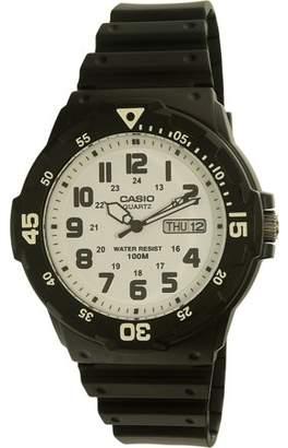 Casio Men's Dive Style Watch, Black/White