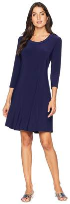 Anne Klein Long Sleeve Fit Flare Shirtdress Women's Dress