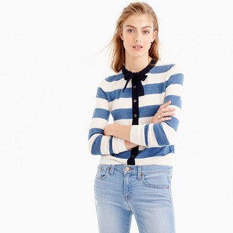 Jackie tie-neck cardigan sweater in stripes $89.50 thestylecure.com
