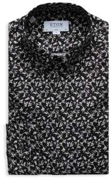 Eton Slim Fit Fox Print Dress Shirt