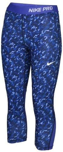 Nike Big Girls' (7-16) Pro Cool Allover Print Training Capri-Game Royal/Black-XL