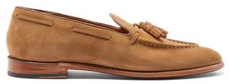 Grenson Scottie Tasseled Suede Loafers - Mens - Beige