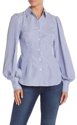 Do & Be Do + Be Stripe Peplum Hem Shirt