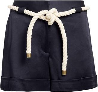 Monse Rope Tie Navy Shorts