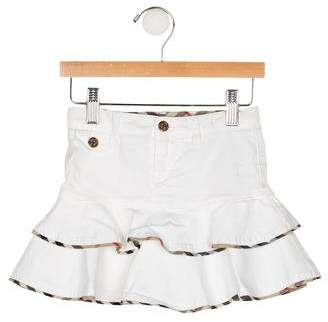 Burberry Girls' Tiered Mini Skirt