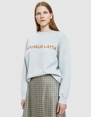 Eckhaus Latta Sweatshirt in Pearl Blue