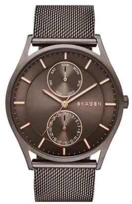 Skagen 'Holst' Multifunction Mesh Strap Watch, 40mm