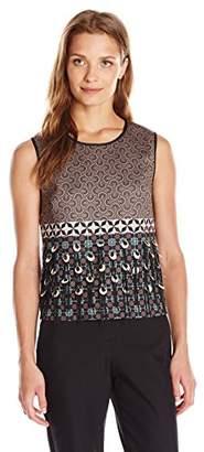 Clover Canyon Sportswear Women's Neoprene Print Embellished Top