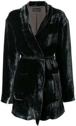 Fabiana Filippi belted velvet coat