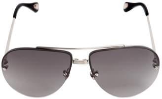 Ann Demeulemeester Titanium Aviator Sunglasses