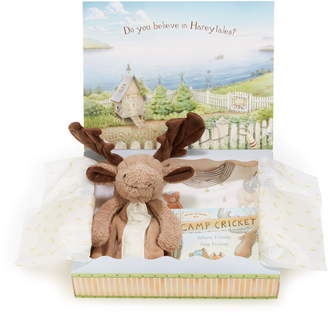 Bunnies by the Bay Bruce Sleepy Time Fitted Two-Piece Pajamas, Animal Buddy Blanket & Book Set