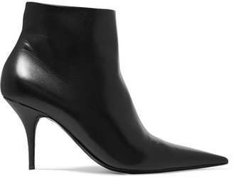Balenciaga Knife Leather Ankle Boots - Black