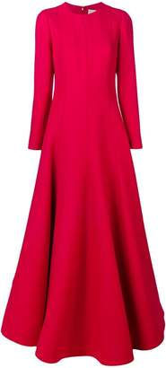 Valentino long flared dress