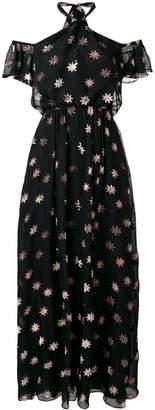 Temperley London velvet star twist dress