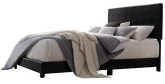 Acme Lien Upholstered Twin Bed in Black Leatherette