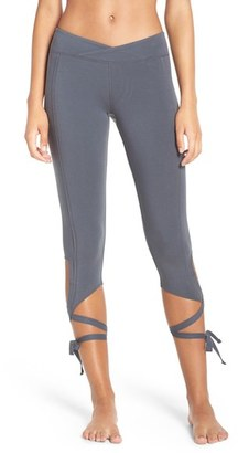 Free People 'Turnout' Tie Up Leggings $88 thestylecure.com