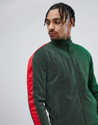 Jaded London Side Stripe Track Jacket In Green