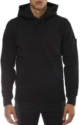 Stone Island Shadow Project Black Hooded Cotton Sweatshirt