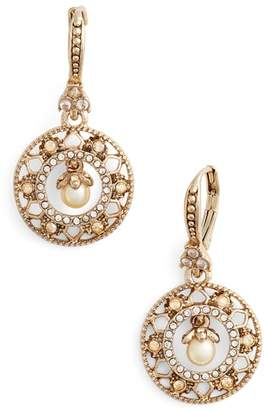 Marchesa Round Drop Earrings