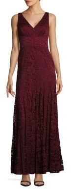 V-Neck Lace Gown $408 thestylecure.com