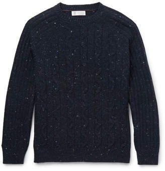 Brunello Cucinelli Mélange Cable-Knit Sweater