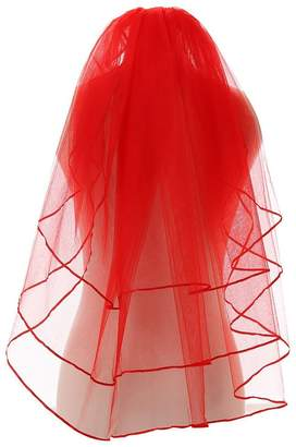 Drasawee Short 3 Layers Cathedral Halloween Wedding Bride Veil with Comb