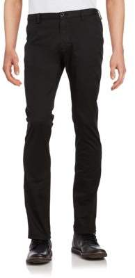 HUGO BOSS Cotton-Blend Straight-Leg Pants