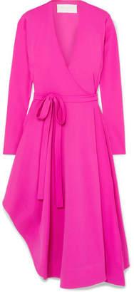 Esteban Cortazar Asymmetric Stretch-jersey Wrap Dress - Pink
