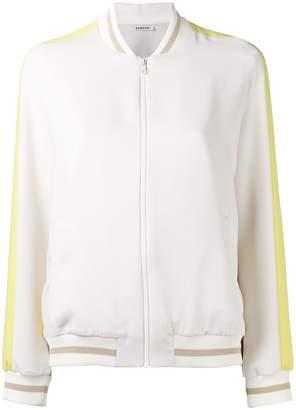 P.A.R.O.S.H. striped-cuff bomber jacket