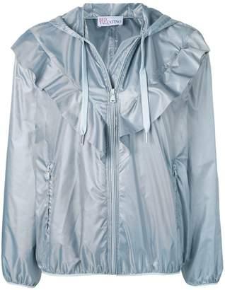 RED Valentino ruffle detail shell jacket