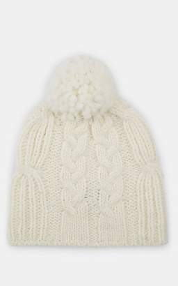 e05efa10e8709 Barneys New York MEN S CHUNKY CABLE-KNIT ALPACA-BLEND BEANIE - CREAM