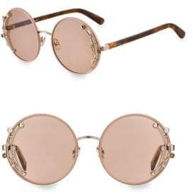 Jimmy Choo 59MM Gema Round Gemstone Sunglasses