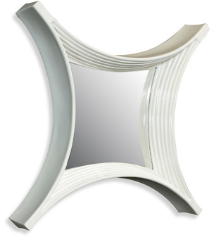 Bed Bath & Beyond Cooper Classics Glass White 24.25-Inch x 24.25-Inch Padroni Mirror